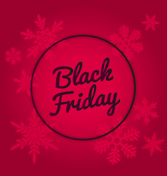 black friday sale banner design red neon colors vector image