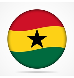 button with waving flag of Ghana vector image