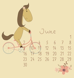 Calendar for June 2014 vector image