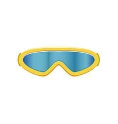 Cartoon icon ski goggles winter sport glasses vector