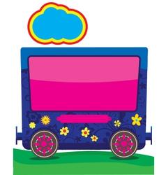 children train 06 vector image