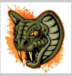 Cobra head mascot vector