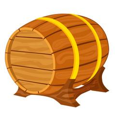 colorful cartiin wooden beer barrel vector image