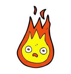 Comic cartoon friendly fireball vector