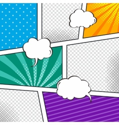 comic template element with speech bubble halftone vector image