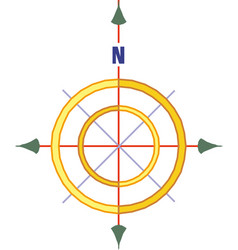 Compass rose with north south east and west vector