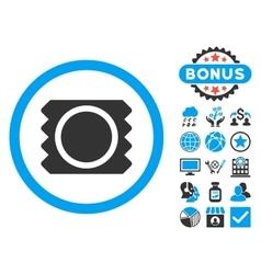 Condom Flat Icon with Bonus vector