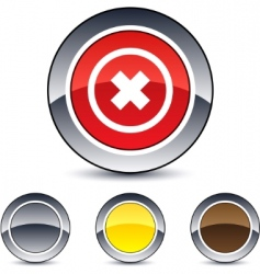 Delete cross round button vector