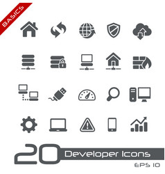 developer icons - basics vector image