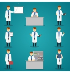 Doctor Set of Characters vector image