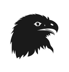 eagle head silhouette vector image