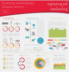Economy and industry Engineering and metalworking vector image