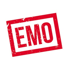 Emo rubber stamp vector