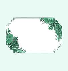 exotic tropical horizonal border frame corners vector image vector image