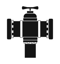 Fire hydrant black simple icon vector