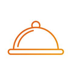 Food cover dish serving restaurant menu vector