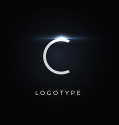 Futurism style letter c minimalist type vector