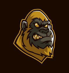 golden apes sign and symbol logo vector image