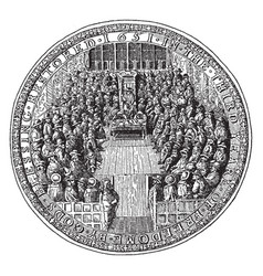 Great seal england under commonwealth vector