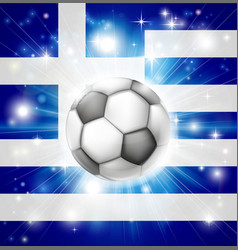Greek soccer flag vector