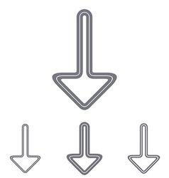 Grey line download logo design set vector