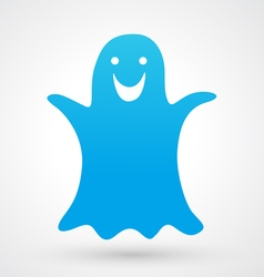 Halloween ghost icon vector image