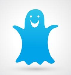 Halloween ghost icon vector