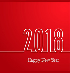 happy new year 2018 paper postcard vector image