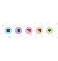 Harmonica icons vector