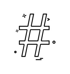hashtag icon design vector image