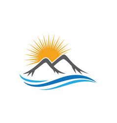 high mountain icon logo business template vector image