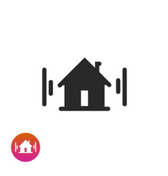 home icon symbol black and white house vector image