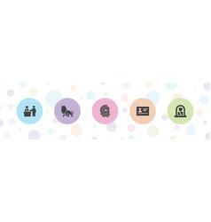 Identity icons vector