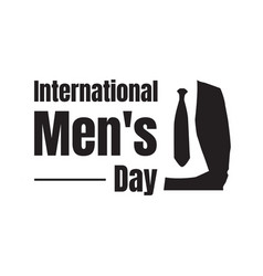 international mens day lettering graphic design vector image