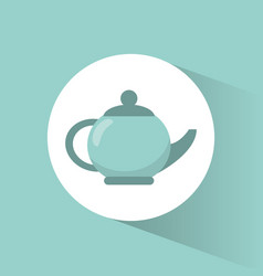kettle pot coffee porcelain vector image
