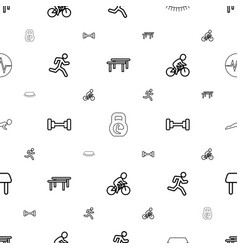 Lifestyle icons pattern seamless white background vector