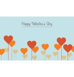 Love on blue backgrounds for valentine day card vector