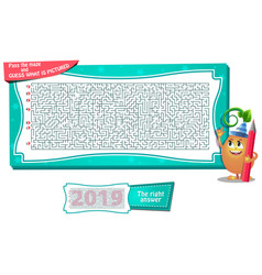 Maze what is pictured new year vector