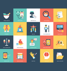 Medical and healthcare icons set vector
