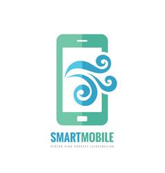 Mobile phone logo template concept vector