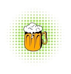 Mug beer icon comics style vector