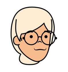 Old woman head character vector