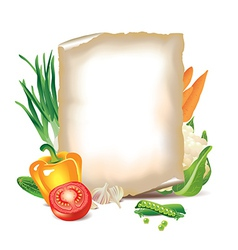 paper vegetables vector image