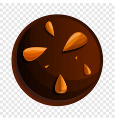 peanut choco biscuit icon cartoon style vector image