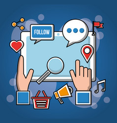 people social media networks vector image