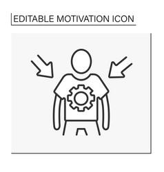 Personal control line icon vector
