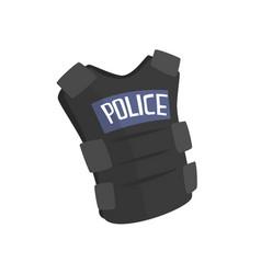 Police flak jacket or bulletproof vest cartoon vector