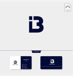 Premium abstract initial b logo template business vector