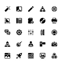 Printing solid icons vector