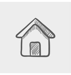 Real estate house sketch icon vector